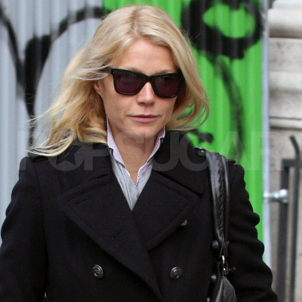 Gwyneth Paltrow wore her shades in Paris.