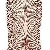 Quiz Rose Gold Sequin Fishtail Maxi Dress