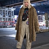 Style Your Leopard-Print Coat With: A Graphic Tee, Oversize Pants, and Heels