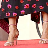 Jen's exact Aquazzura shoes are on sale for $312!