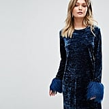 Anna Sui Crushed Velvet Mini Dress