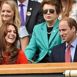 Prince William cracked Kate up while they watched a Wimbledon match in July.