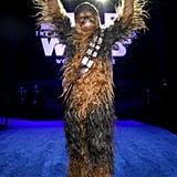 تشيوباكا في العرض الأول لفيلم Star Wars: Rise of Skywalker في لوس أنجلوس