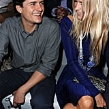 Orlando Bloom and Poppy Delevigne at Dior.