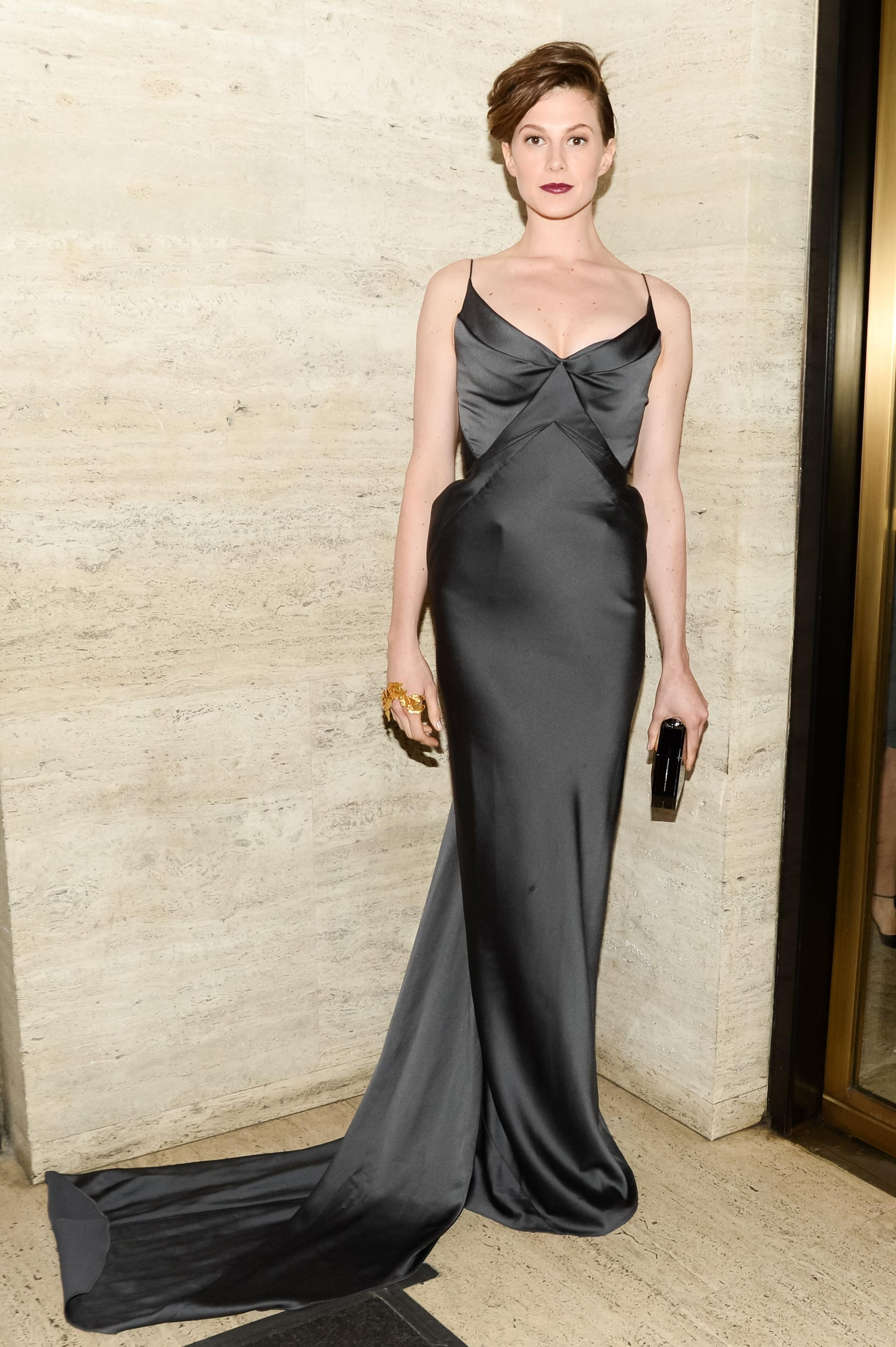 Elettra Wiedemann slinked into a black column for the American Ballet Theatre's opening night gala.