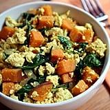 "Tofu ""Scramble"" With Kale and Sweet Potatoes"