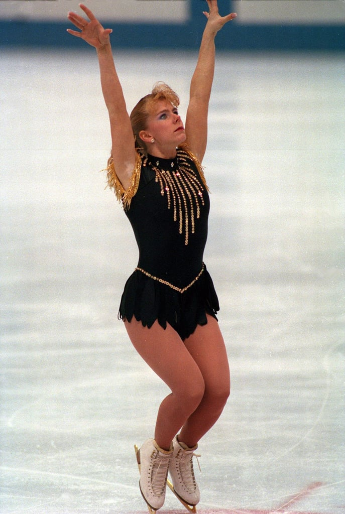 Harding's Gold and Black 1992 Winter Olympics Costume