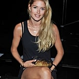 Doutzen Kroes looked cute and casual backstage at the Theyskens' Theory show.