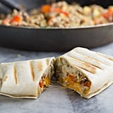 Courgette-Lentil Breakfast Burritos