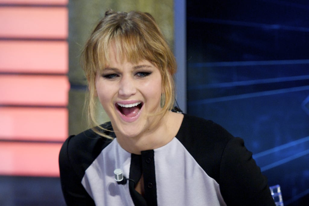 Jennifer Lawrence had a laugh while at the El Hormiguero show in Madrid.