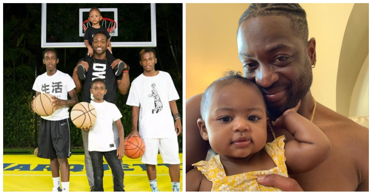 How Many Kids Does Dwyane Wade Have?   POPSUGAR Family