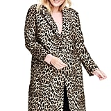 Lands' End Leopard Jacquard Topper