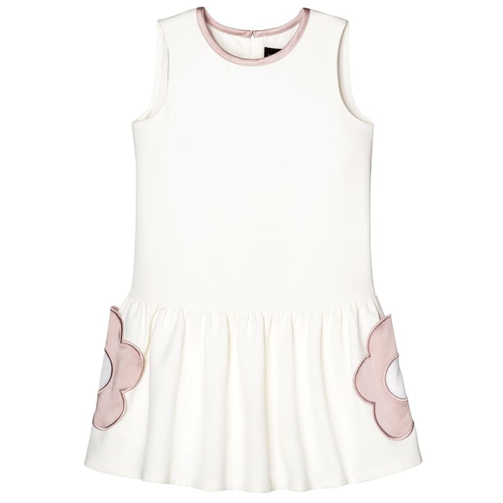Toddler Girls White Flower Pocket Drop Waist Dress 23 Victoria