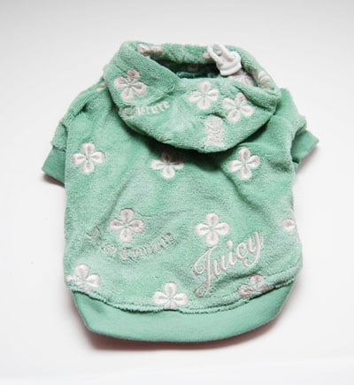 Juicy Couture Daisy Velour Dog Hoodie (Fern) ($45)