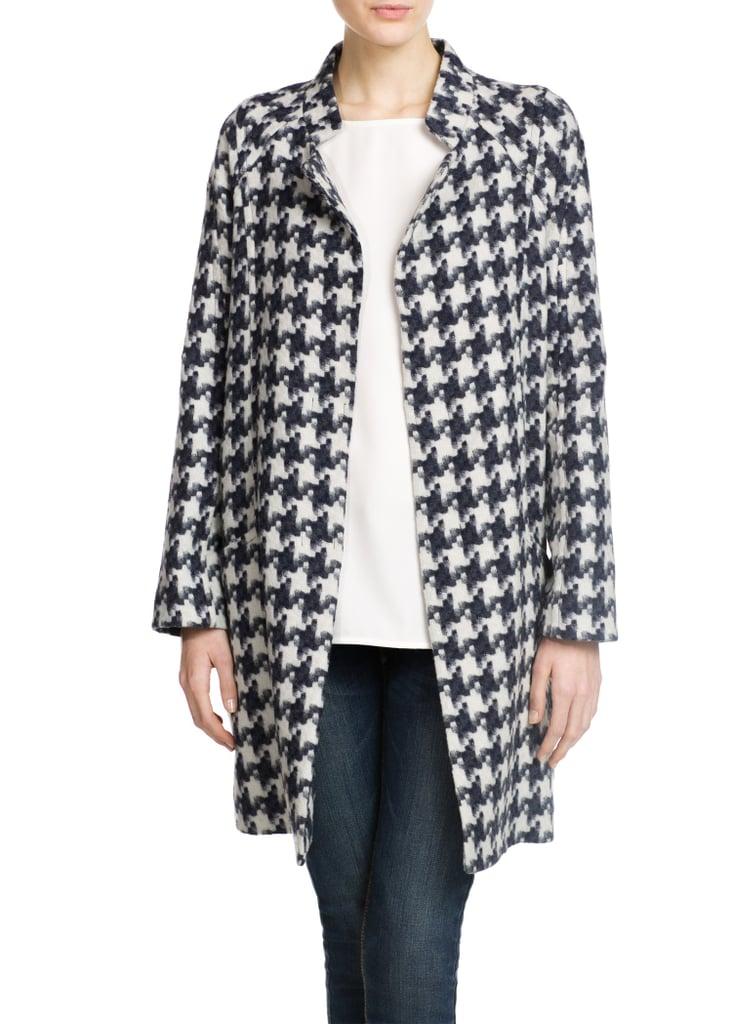 Mango Houndstooth Coat