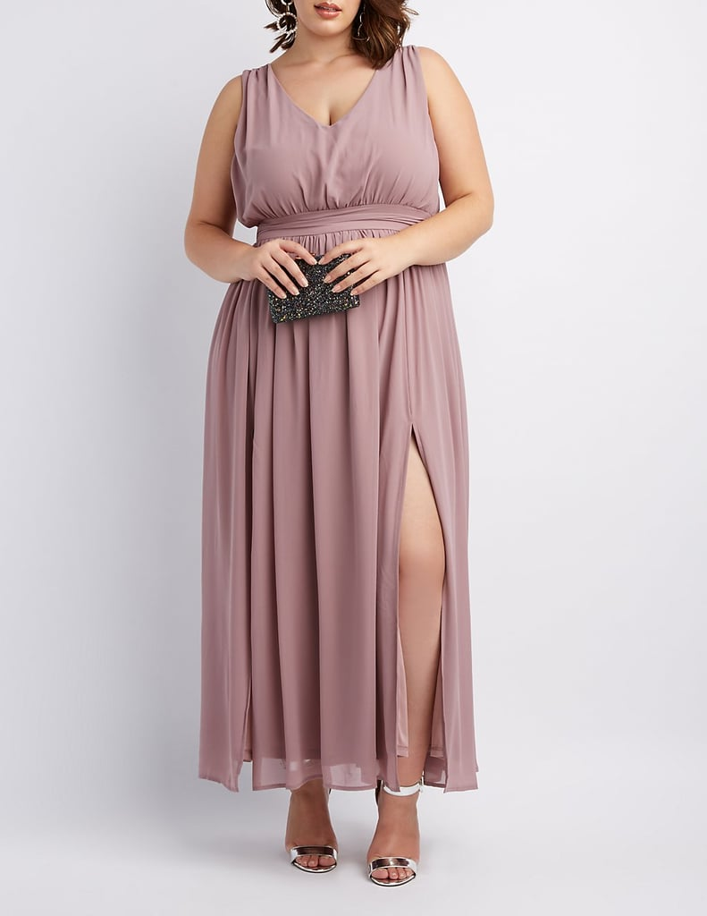 Charlotte Russe Pleated Chiffon Dress | Best Plus-Size ...