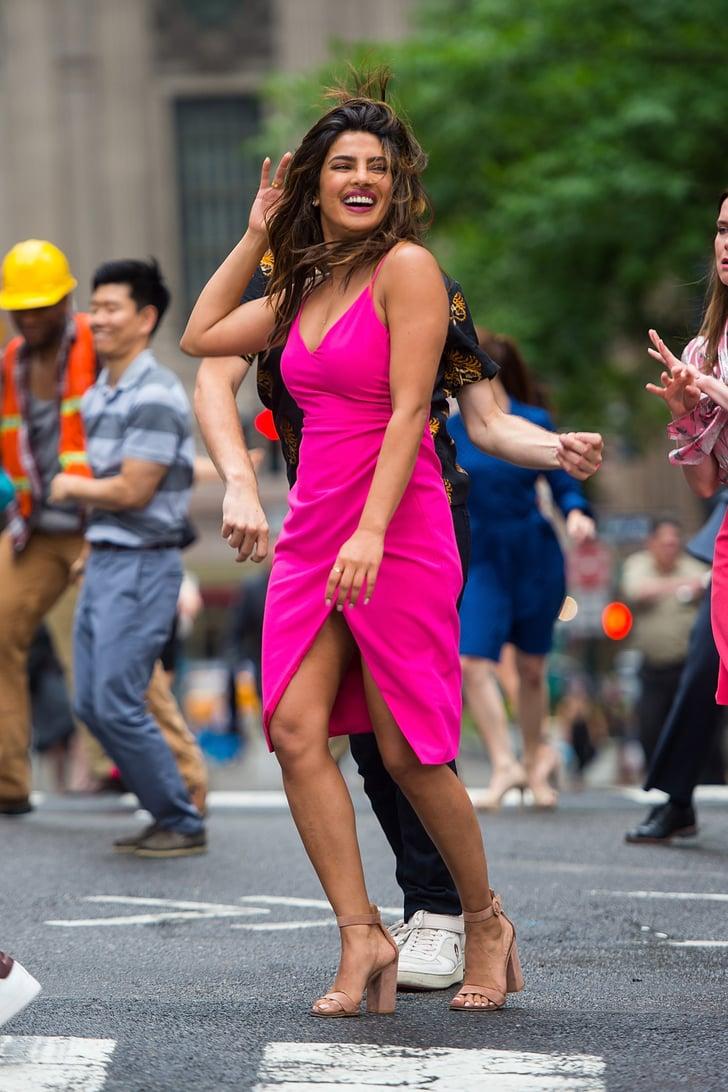 Priyanka Chopra's Pink Dress in Isn't It Romantic Movie   POPSUGAR Fashion