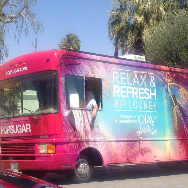 One of our favorite parts of Coachella was our lounge with Olay Fresh Effects!