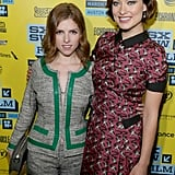 Anna Kendrick and costar Olivia Wilde linked up for their premiere of Drinking Buddies at SXSW.