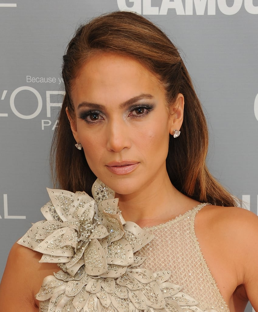 Jennifer Lopez flashed her smoky eyes at the camera.