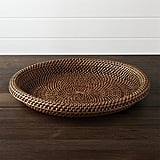 Crate & Barrel Artesia Rattan Serving Tray ($40)