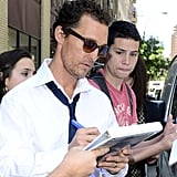 Matthew McConaughey took time for fans in NYC.