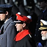 Prince William attended Remembrance Sunday 2012.