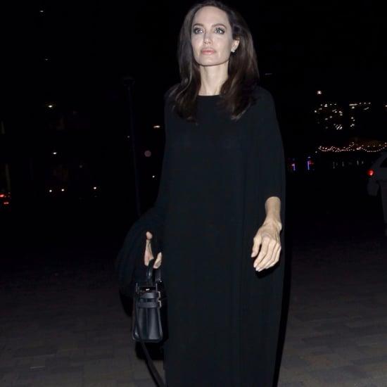 Angelina Jolie's Long Black Dress