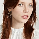 Madewell Wire Star Drop Earrings