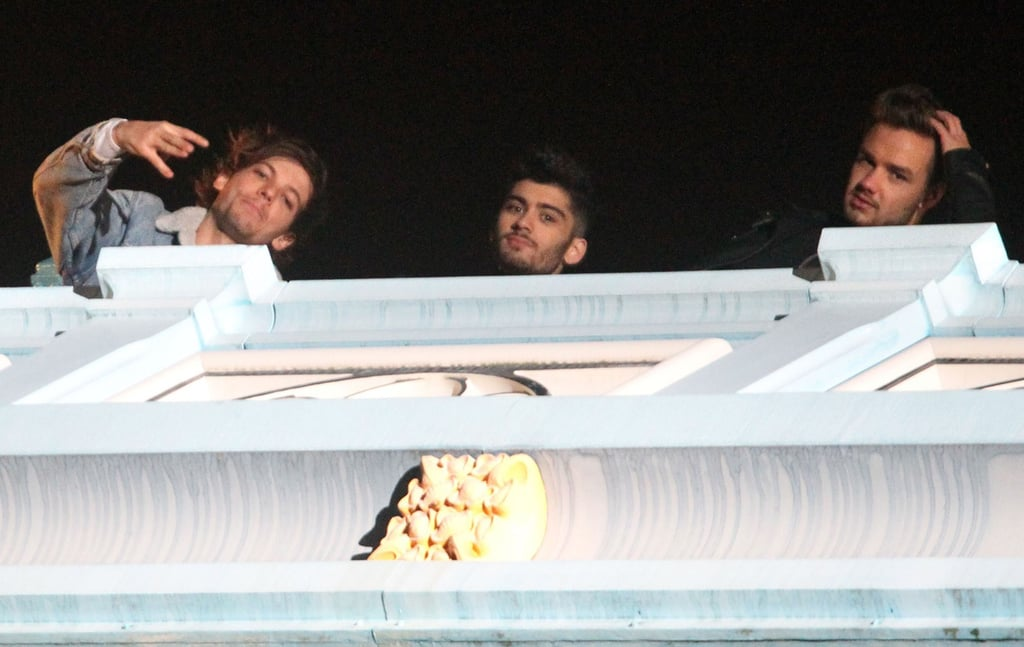 """Louis Tomlinson, Zayn Malik, and Liam Payne ignored the saying, """"Don't look down!"""""""