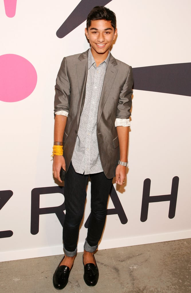 I love it when boys wear cropped pants. And the sheen of the blazer adds a touch of polish.