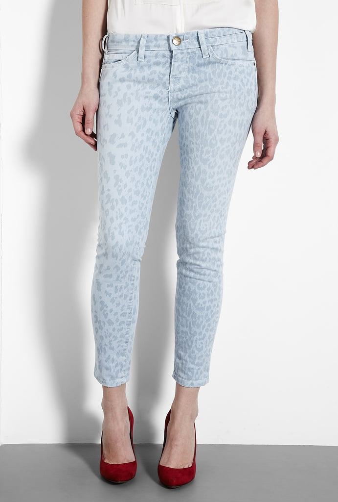 Miranda Kerr loves this leopard-print jean, and guess what? So do we. Current/Elliot Cashmere Blue Leopard Print Stiletto Skinny Jeans ($165, originally $275)