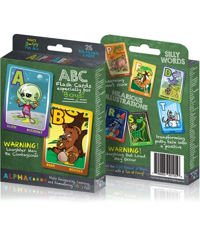 Potty Humor Alphabet Flash Cards