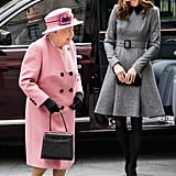 Kate Middleton Grey Coat Dress March 2019