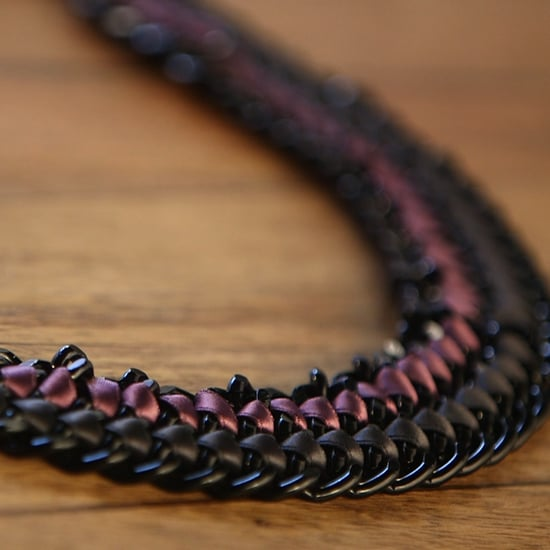 How to Make Ribbon and Chain Jewelry (Video)