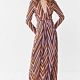 Flynn Skye Kate Striped Wrap Maxi Dress