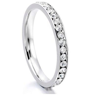 Women's Stainless Steel Eternity Ring