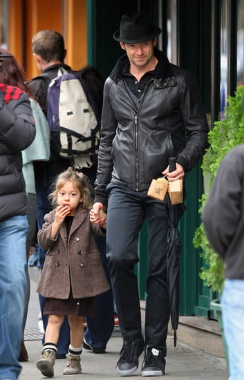 Hugh Jackman and Ava after school stroll
