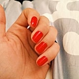 Chloë Moretz showed off a beautiful scarlet nail hue. Source: Instagram user cmoretz