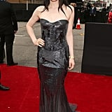 Carlie Rae Jepson stepped out in Roberto Cavalli for the Grammys.