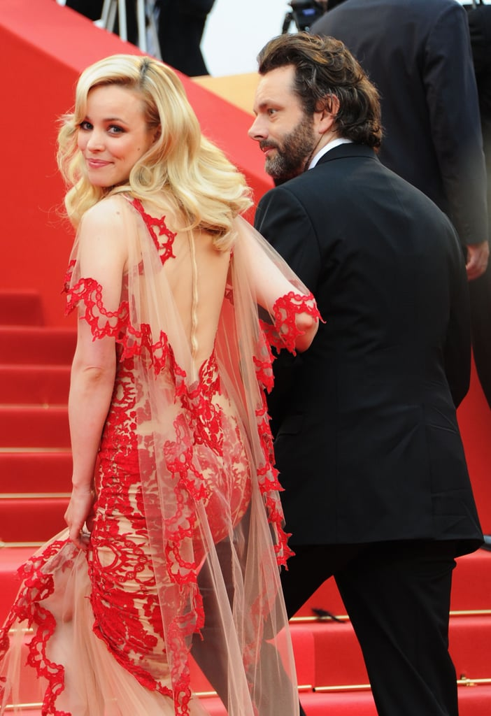 Rachel flashed a smile while walking at the Cannes Film Festival with Michael Sheen in 2011.