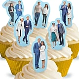 Prince Harry Meghan Markle Royal Wedding Stand Up Edible Cake Toppers