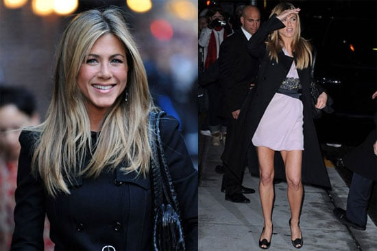 Photos and Video of Jennifer Aniston on Late Night With Dave Letterman On 12/17/2008