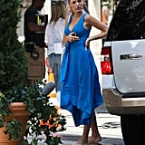 Blake Lively looked ready for Summer in a loose-fitting dress in NYC.