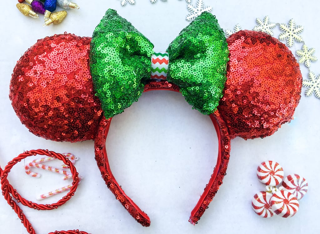 sequin christmas mouse ears