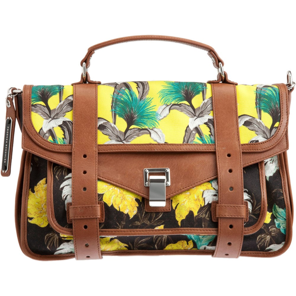 """While I usually stay away from seasonal It bags, I can't stop thinking about Proenza's tropic thunder. I love the contrast between the retro floral prints and classic satchel style; it makes me feel like I'm only an iced tea away from the Polo Lounge."" — Liza Kaplan, senior producer, FabSugarTV  Proenza Schouler PS1 Medium Floral Satchel ($1,855)"