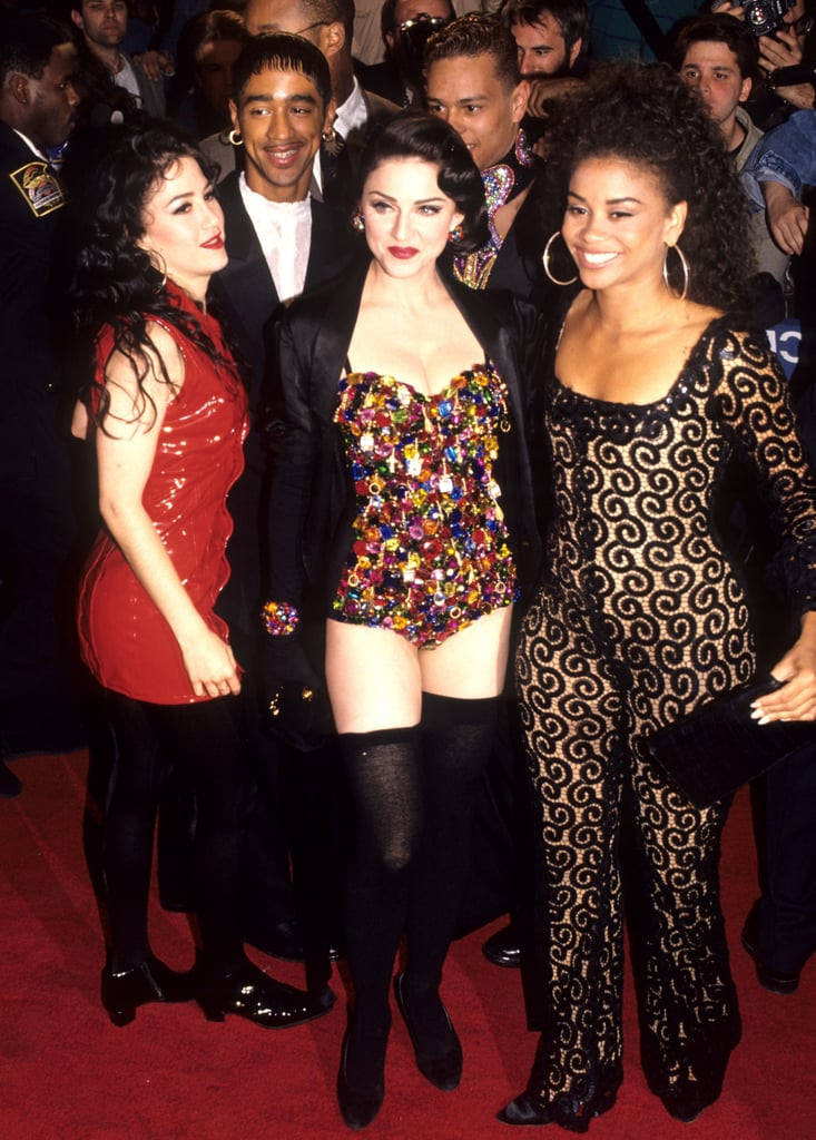 With Her Dancers At The Truth Or Dare Premiere In 1991