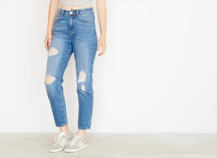 Garage Clothing Distressed Mom Jean ($50)
