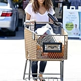 Mila Kunis stopped by the store to pick up some pumpkins in West Hollywood.