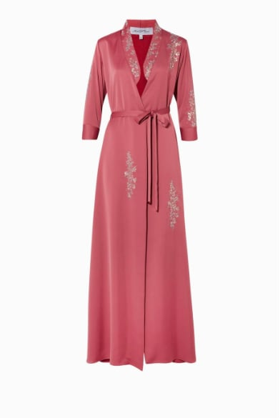 Amal Al Raisi, Deco Rose Embroidered Kaftan, AED3,450